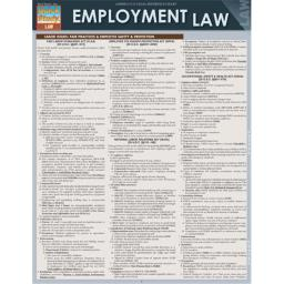 BarCharts 9781423219583 Employment Law Quickstudy Easel