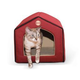 K&H Pet Products 3633 Red / Tan K&H Pet Products Unheated Indoor Pet House Red / Tan 16 X 15 X 14