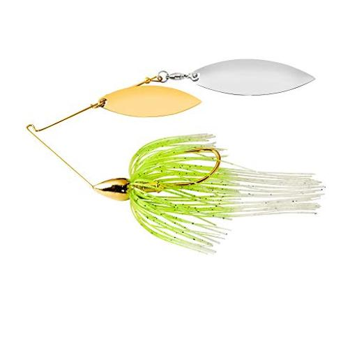War eagle spinner baits we gold dbl wil spinnerbait wht cht we38gw02