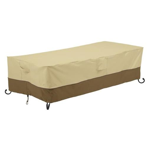 Classic Accessories 55-784-051501-00 Veranda Rectangular Patio Fire Pit And Table Cover, 60 in.