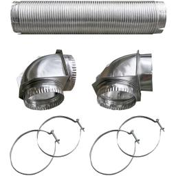Builder's best 110050 semi-rigid dryer vent kit with close elbow