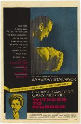 Witness to Murder Movie Poster Print (27 x 40) MOVAH6640