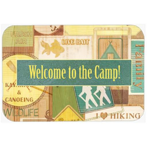 Carolines Treasures SB3080LCB Welcome To The Camp Glass Cutting Board - Large