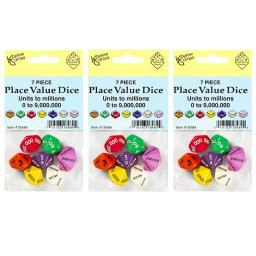 Koplow games inc 3 st place value dice set 7 pcs 18484bn