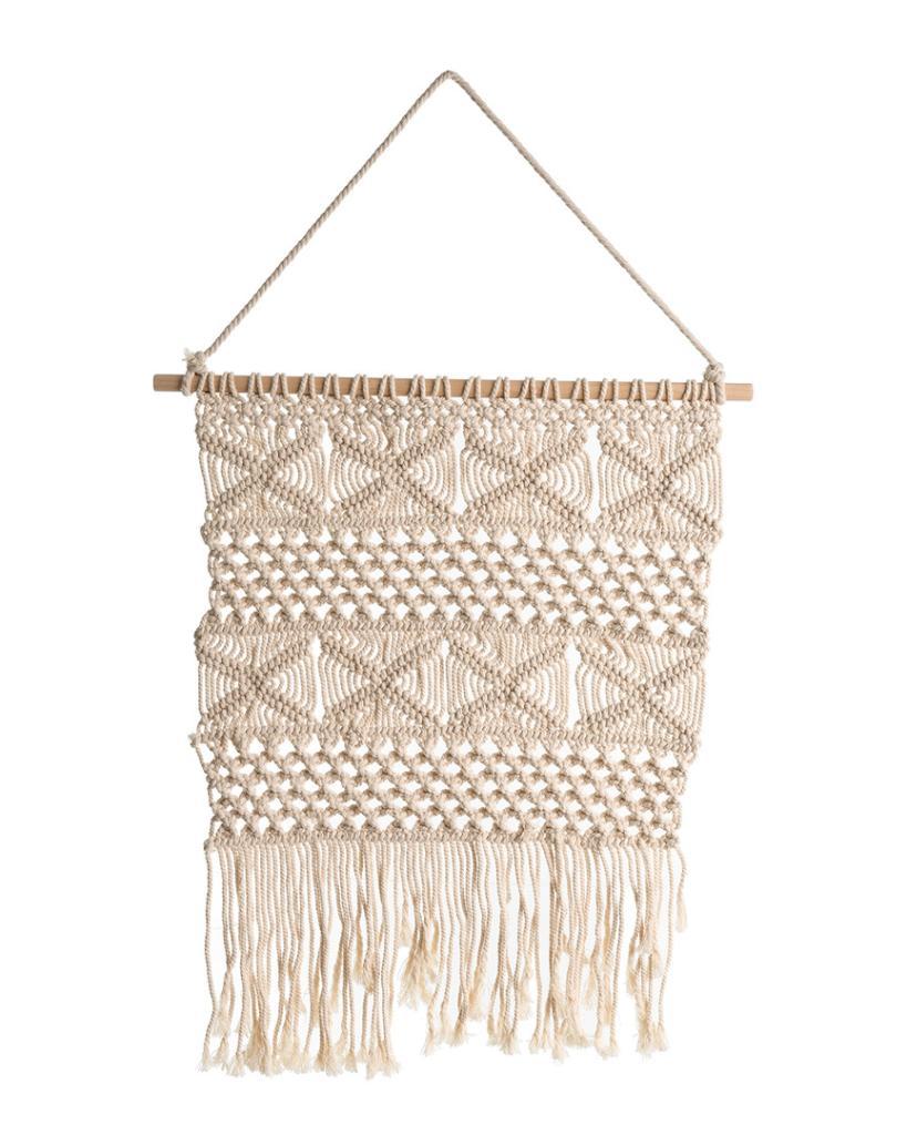 Indaba Macrame Crochet Wall Hanging Panel