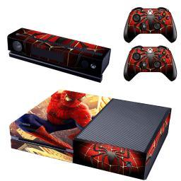 Spiderman Xbox One Console SKIN + 2 x Controller Stickers Decal FacePlate - Pad