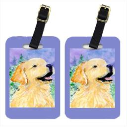 Carolines Treasures SS8904BT Golden Retriever Luggage Tag - Pair 2, 4 x 2.75 In.
