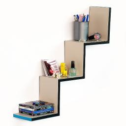 Winter Story Ladder-Shaped Leather Shelf / Bookshelf / Floating Shelf