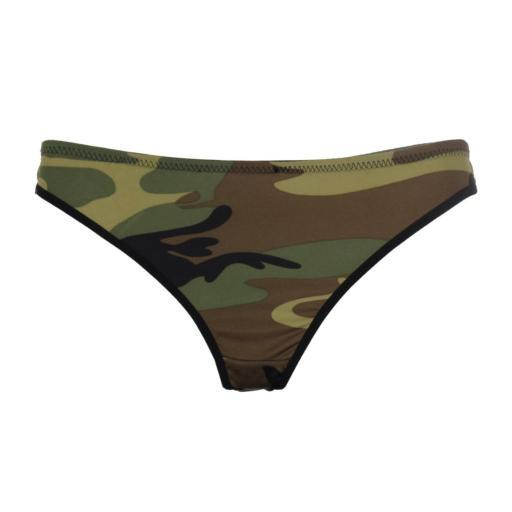 Rothco Women's Sexy Camouflage Thong Underwear, Woodland Camo