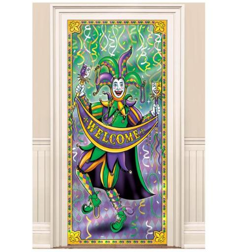 Amscan 241992 78 x 36 in. Mardi Gras Foil Door Decoration - Pack of 2