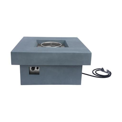 Armen Living LCFPMQGR 29 x 32 x 32 in. Marquee Outdoor Patio Fire Pit, Light Grey with Concrete Texture