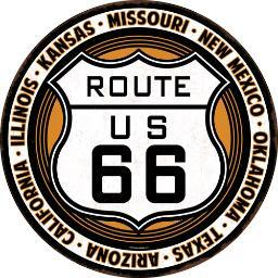 Open road brands 90149443s open road brands die cut emb tin sign route 66 12x12 rnd