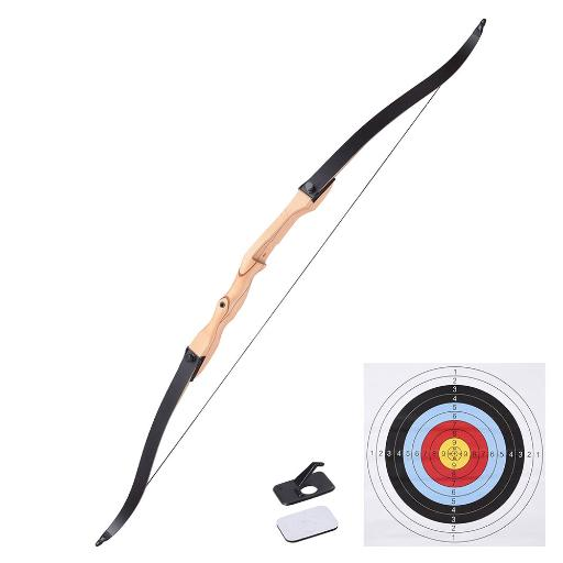 "65"" Hunting Take Down Recurve Bow Right Hand Draw Weight 30lbs Traditional Archery Long Bow Outdoor thumbnail"
