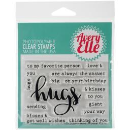 "Avery Elle Clear Stamp Set 4""X3"" Simply Said Hugs"