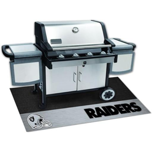 Fanmats 12196 NFL - 26 in. x42 in. - NFL - Oakland Raiders Grill Mat