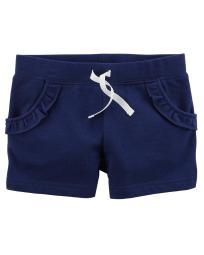 Carter's Baby Girls' French Terry Shorts, Navy, 6 Months