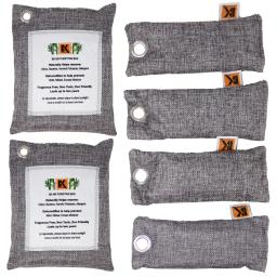 Naturally Activated Bamboo Charcoal Air Purifier Bags - Freshener - Deodorizer