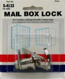 Prime Line S4133 5-pin Cutler Counter Clockwise Mail Box Lock, Nickel Plated