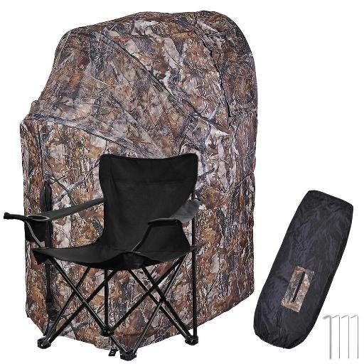 Fold Chair Ground Deer Hunting Blind Woods Camouflage Turkey Hunting Tent 1 Man Fold Chair
