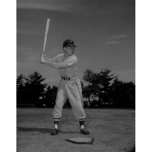 Posterazzi SAL255421631 Baseball Player Holding Bat & Waiting for Ball Poster Print - 18 x 24 in.