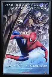 The Amazing Spider-Man 2 Signed Movie Poster Wood Framed with COA