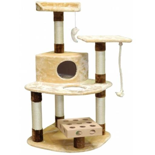 Go Pet Club SF056 IQ Busy Box Cat Tree House Toy Condo Pet Furniture, 32 W x 25 L x 48 H in.