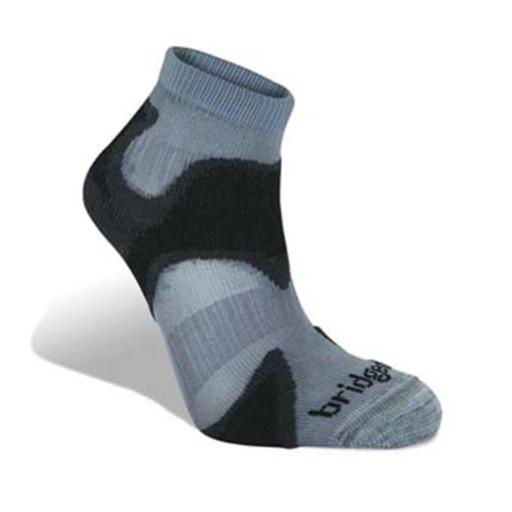 Speed Demon Ultra Light Run Socks, Gunmetal - Large