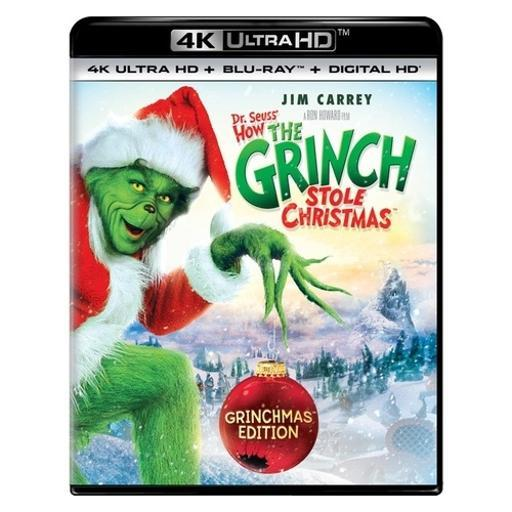 How the grinch stole christmas (blu-ray/4kuhd/ultraviolet/digital hd)(2disc