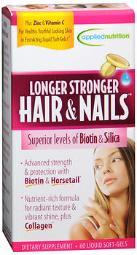 Applied Nutrition Longer Stronger Hair & Nails - 60 Liquid Softgels