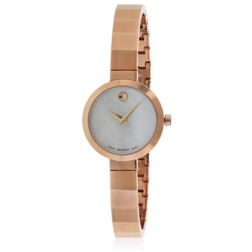 Movado 607112 Movado Novella Rose Gold-Tone Ladies Watch, Mother of Pearl