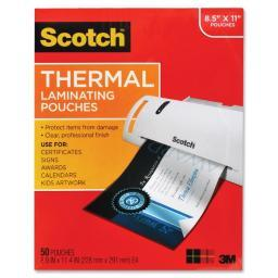 3m mobile interactive solution tp3854-50 3m thermal pouches, letter size  9 in x 11.4 in 50/pack