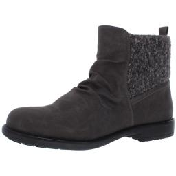 Cliffs by White Mountain Womens Derry Slip On Block Heel Ankle Boots