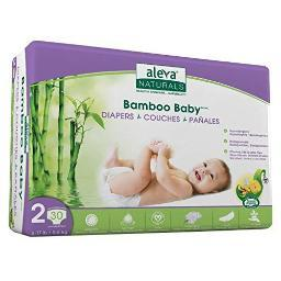 Aleva naturals 37845 bamboo baby diapers size 2