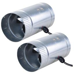 """Yescom 4"""" Inline Duct Booster Fan Cooling Exhaust Blower for Indoor Home Grow Tent Planting(pack of 2)"""