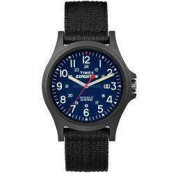 Timex corporation timex expedition scout resin watch black blue nylon strap tw4999900 TW4999900