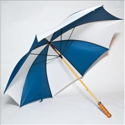 Elite Rain Frankford 2988WS-NW Wooden Shaft Golf Umbrella, Navy Blue and White