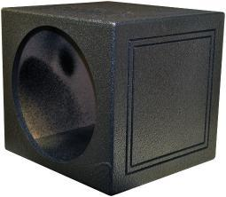 Qpower Qbomb15Ssingle Qpower Single 15 Sealed Woofer Enclosure Withh Bed Liner Spray QBOMB15SSINGLE