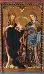 St John The Baptist And St John The Evangelist With A Donor Poster Print EVCMOND026VJ706H
