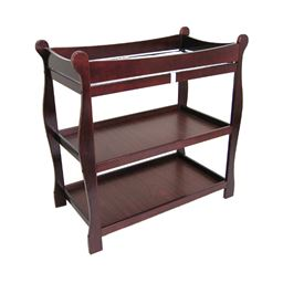Badger Basket Co Cherry Sleigh Style Changing Table