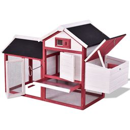 60 Rabbit Bunny Hutch House with Black Roof""