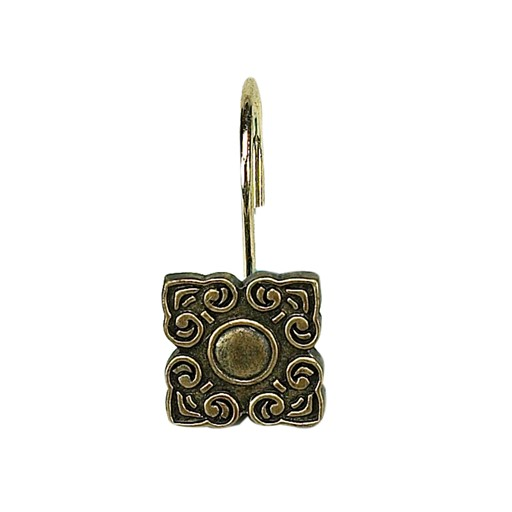 Carnation Home Fashions Bellport Resin Shower Curtain Hooks in Antique Gold