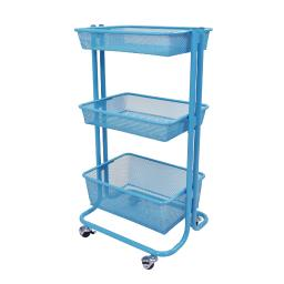 Luxor Home Storage Kitchen Utility Cart - Blue