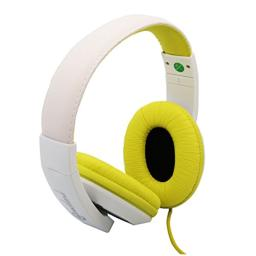Connectland Over Ear 3.5mm Wired Headphone, Microphone Lightweight Adjustable Headband For Kids,Teens,Adults. iPhone iPad Tablet, Yellow CL-AUD63033