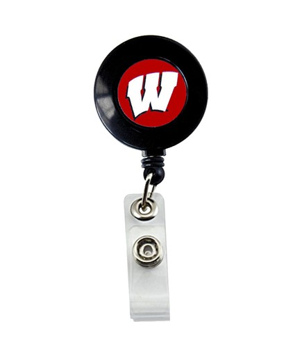 Sports Team Logo Wisconsin Badgers Retractable Badge Reel Id Ticket Clip NCAA