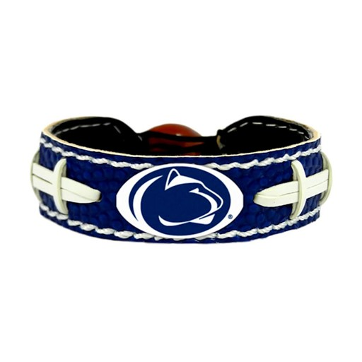 NCAA Penn State Nittany Lions Team Color Gamewear Leather Football Bracelet
