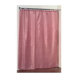 Carnation Home Fashions Standard-Sized Polyester Fabric Shower Curtain Liner in Rose