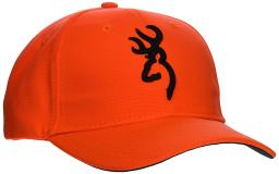 Browning 30840501 bg cap safety orange with 3-d buck mark logo adjustable