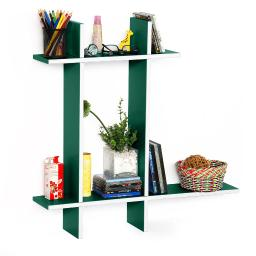 Natural Life-BLeather Cross Type Shelve / Book Shelve / Floating Shelve(4 pcs)