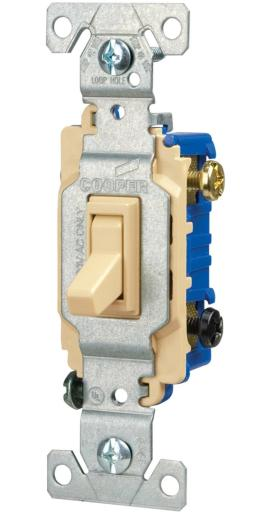 Cooper Wiring 1303-7v Ac Quiet Toggle Switches, Ivory
