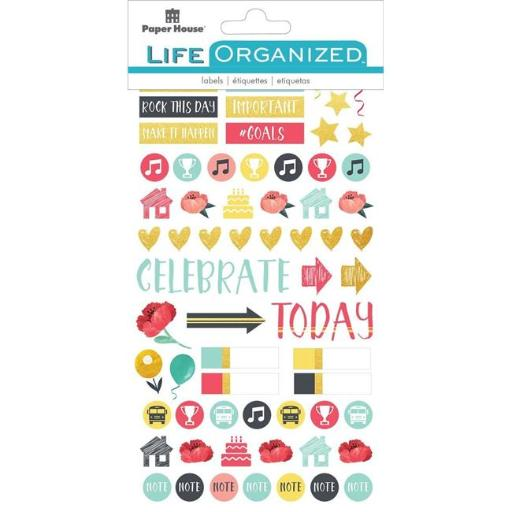 Paper House STPL-7E Life Organized Planner Stickers - Family